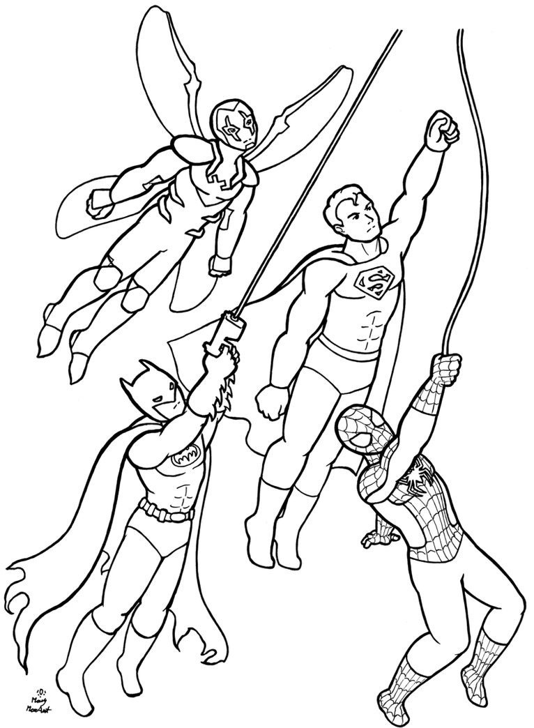 Dc superhero coloring pages