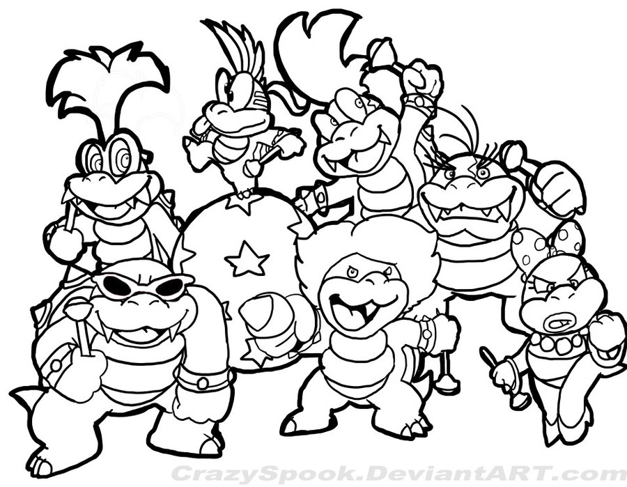 Mario bowser coloring pages for Stampe da colorare spiderman