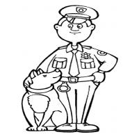 Police officer coloring pages