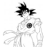 Goku coloring pages