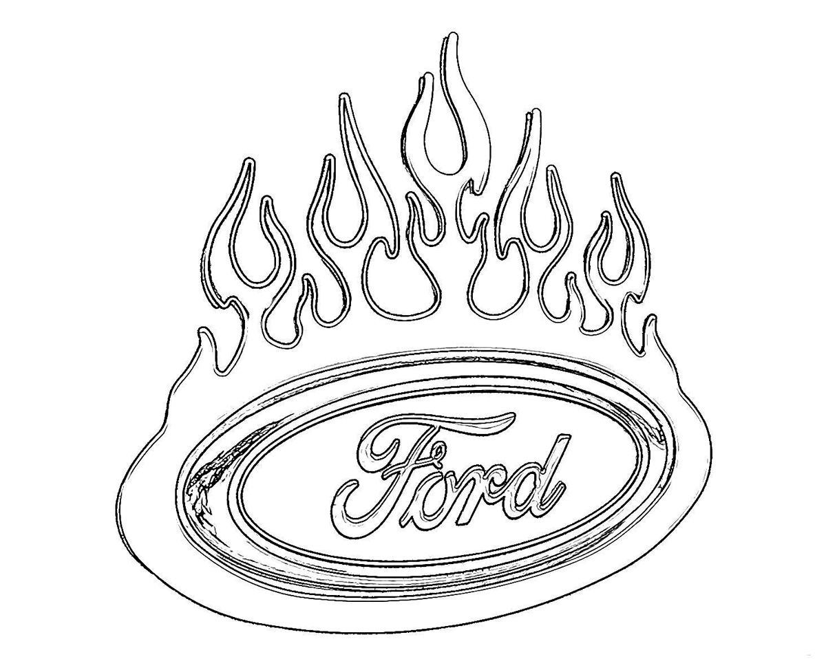 Ford trucks coloring pages