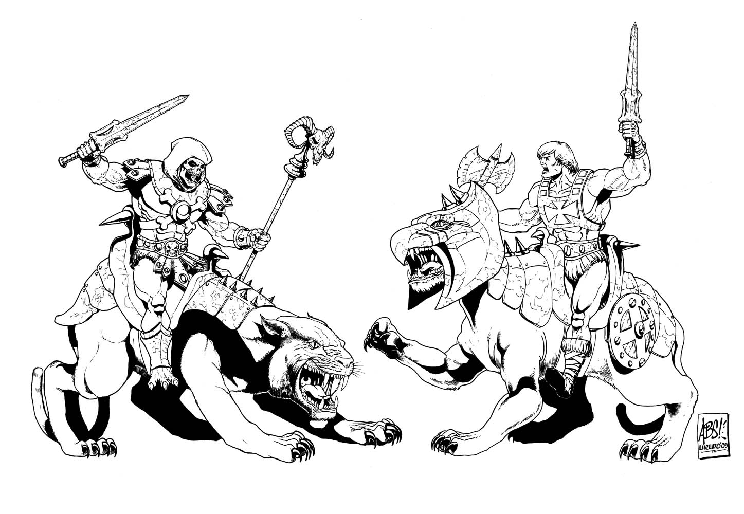 He man coloring pages