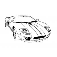 Corvette coloring pages