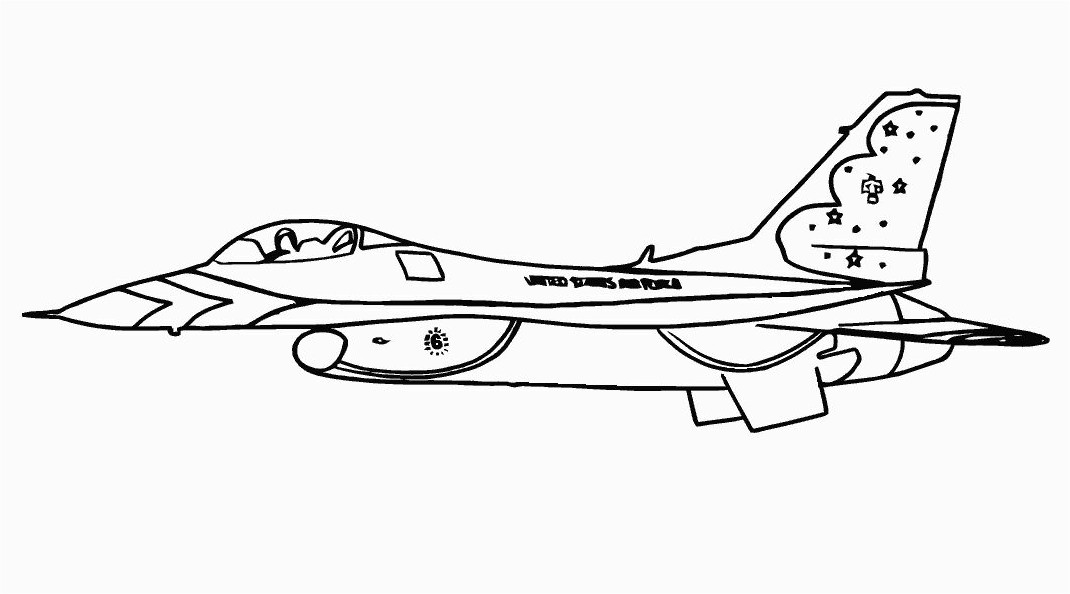 Jet Coloring Pages With