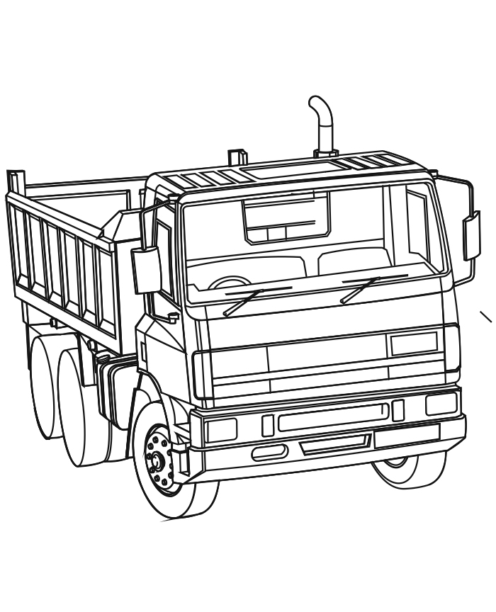 Dump truck coloring pages