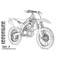 Motorbike coloring pages