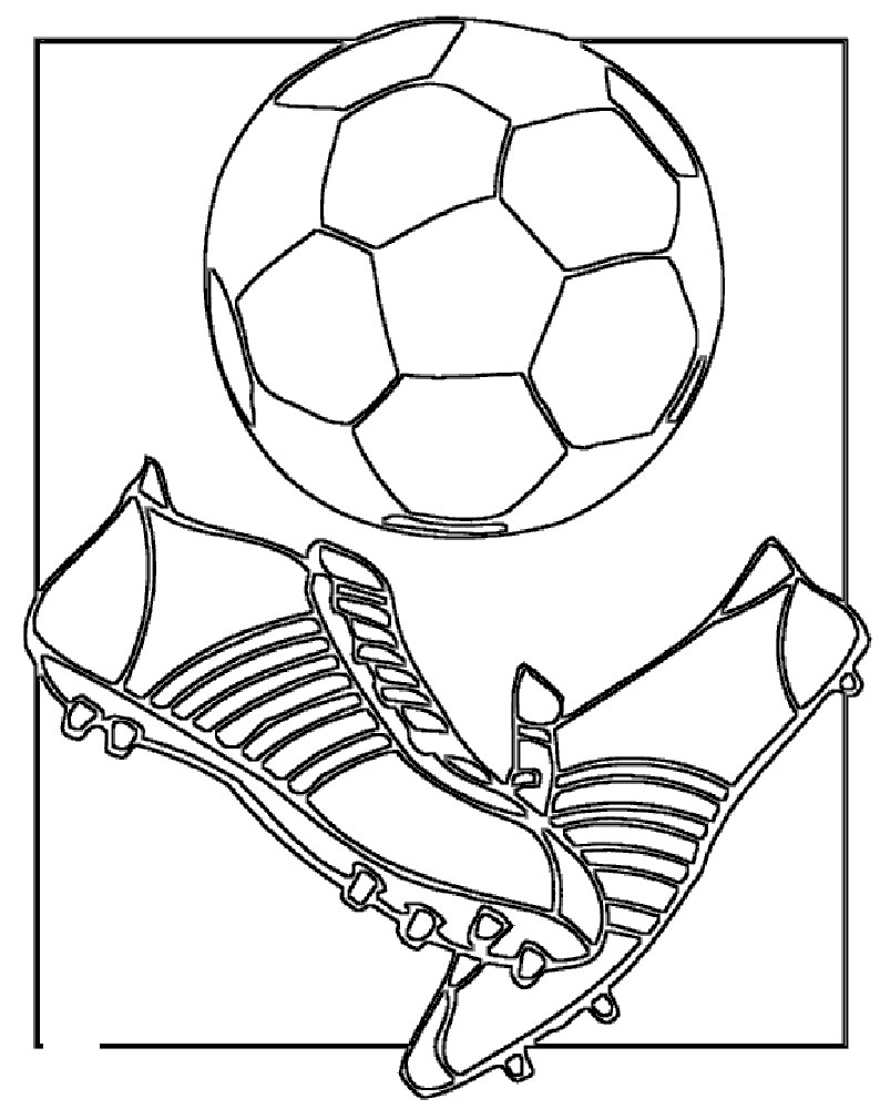 soccer player coloring pages - photo#33