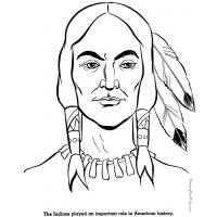 Native american boy coloring pages