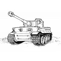 Army tanks coloring pages