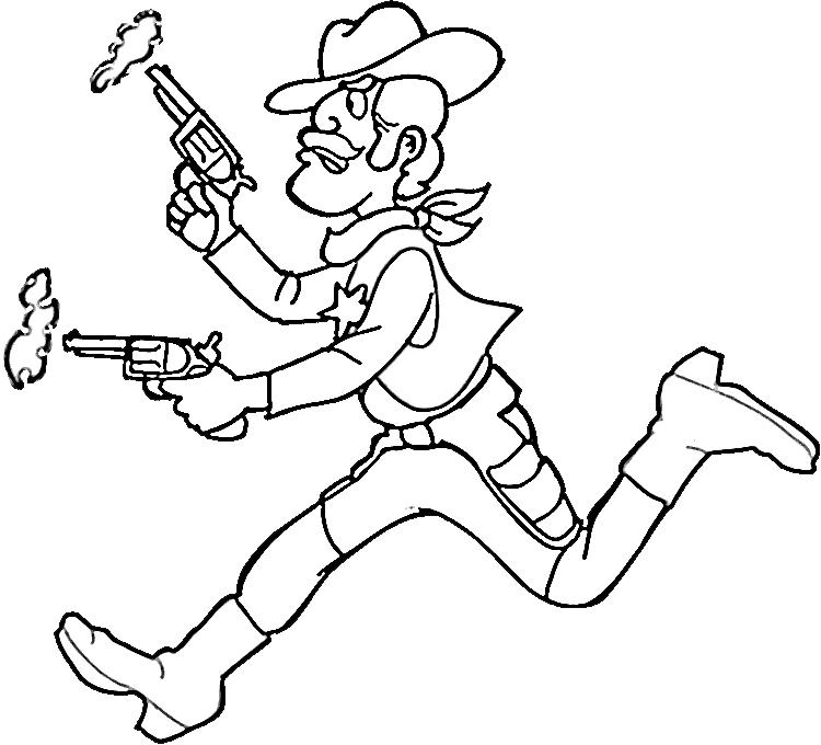 cowboy coloring pages