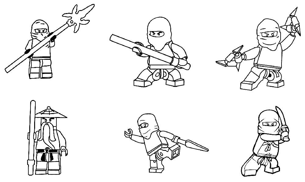 Lego Ninjago Coloring Pages