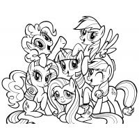 Ponyville coloring pages