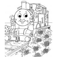 Thomas the tank engine coloring pages