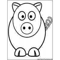 Cartoon animal coloring pages
