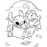 Stitch coloring pages