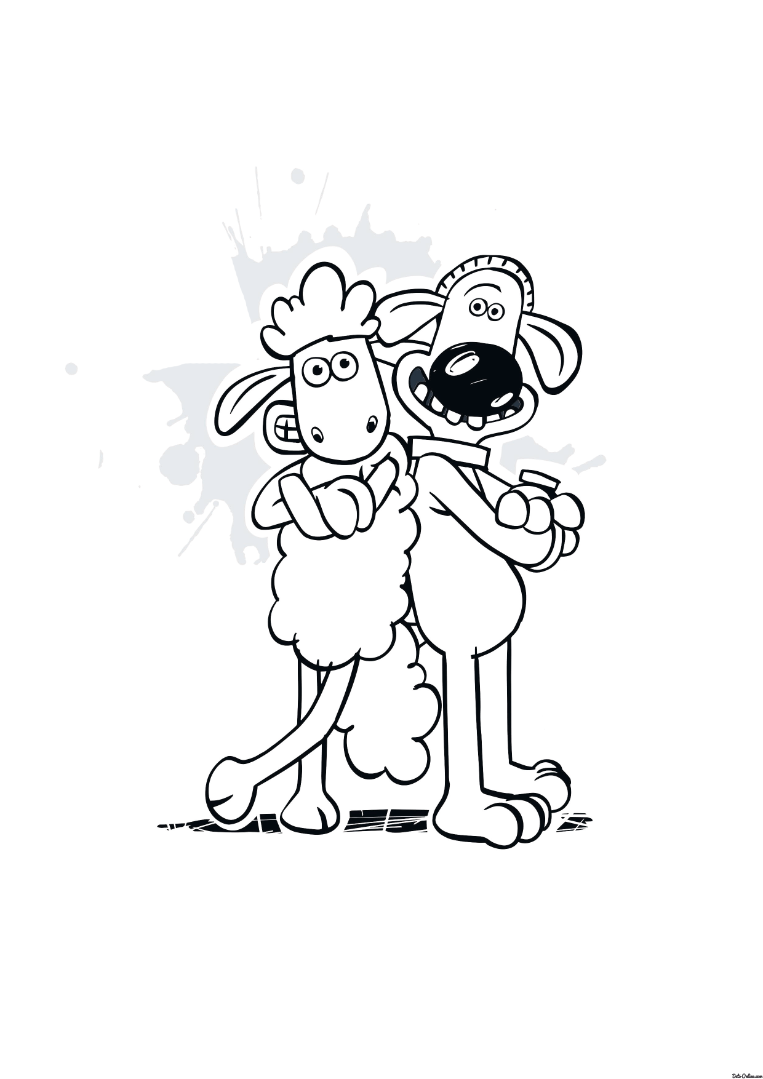 shaun the sheep coloring pages - photo#5