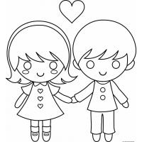 Couple coloring pages