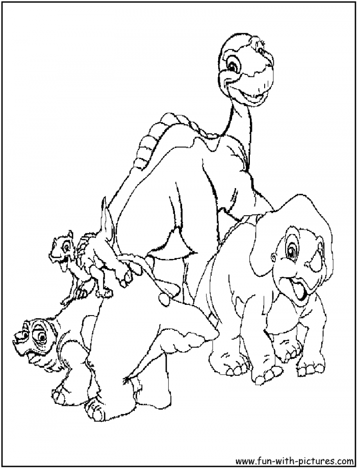 Little Foot Dinosaur Coloring Pages | Coloring Pages