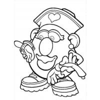Mr potato head coloring pages