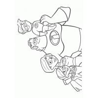 Disney the incredibles coloring pages
