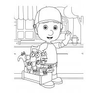 Handy manny coloring pages