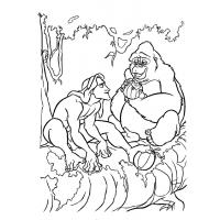 Tarzan coloring pages
