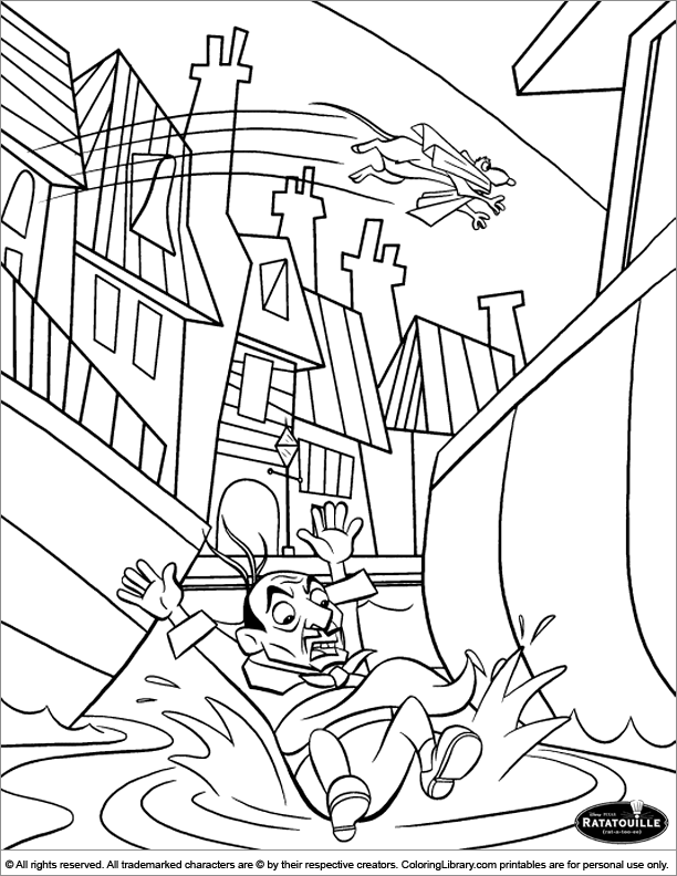World Disney: Free Ratatouille Coloring Pages | 792x612