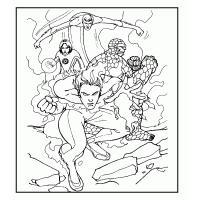 Fantastic four coloring pages