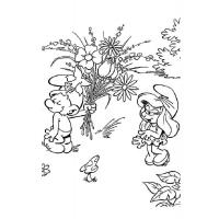 Smurf coloring pages