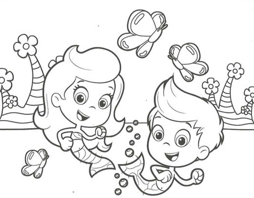 bubble guppies coloring page | Murderthestout