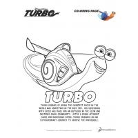 Dreamworks turbo coloring pages