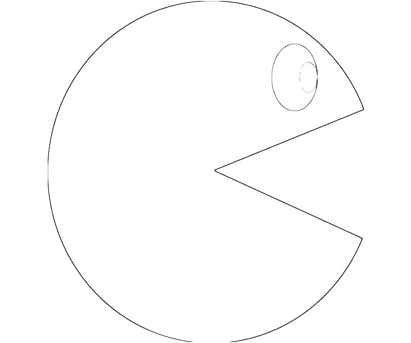 pac man coloring pages