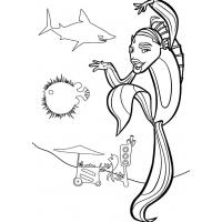 Shark tales coloring pages