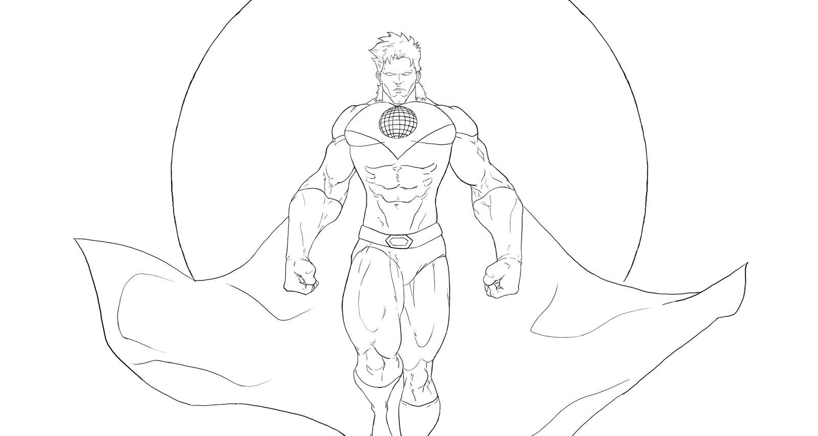 Captain planet coloring pages