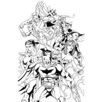Justice league coloring pages
