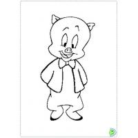 Porky the pig coloring pages