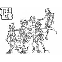 Teen Titans Go Coloring Pages