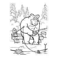 Mascha and bear coloring pages