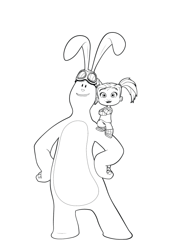 Kate and Mim-Mim coloring pages