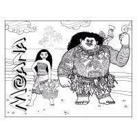 Moana coloring pages