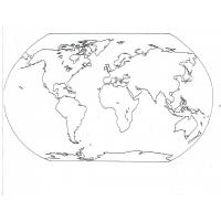 Continents map coloring pages