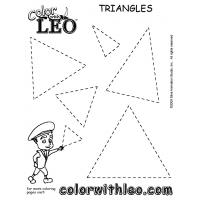 Triangles coloring pages