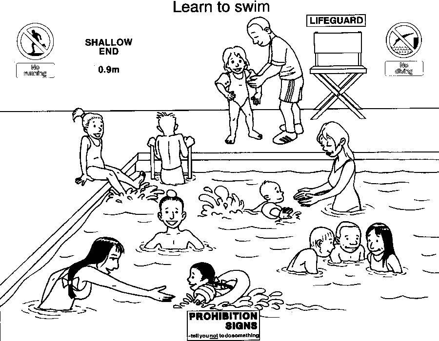Swimming Safety Coloring Pages | Coloring Pages