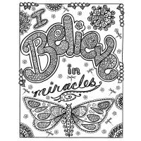 Inspirational coloring pages