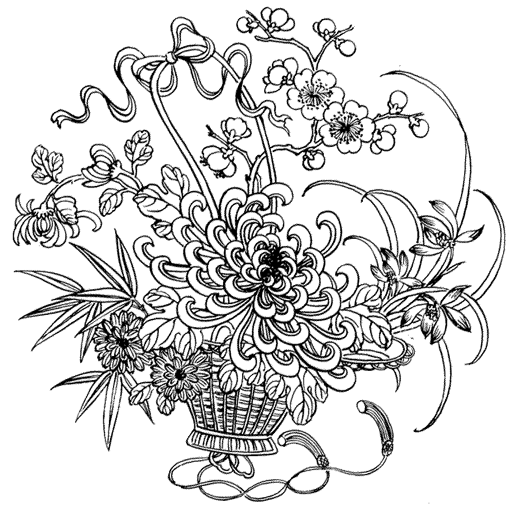 Adult coloring pages flowers