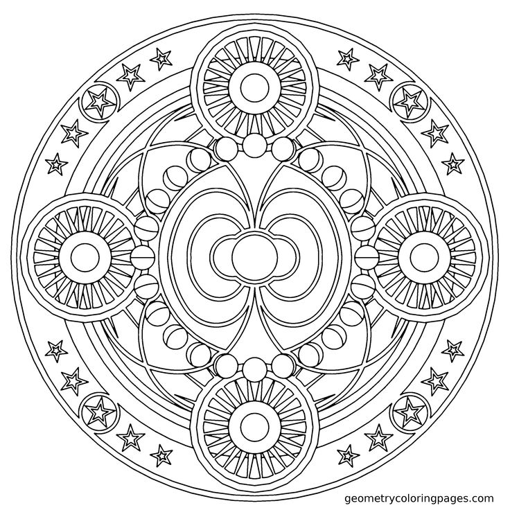 chakra mandala printable coloring pages - photo#17