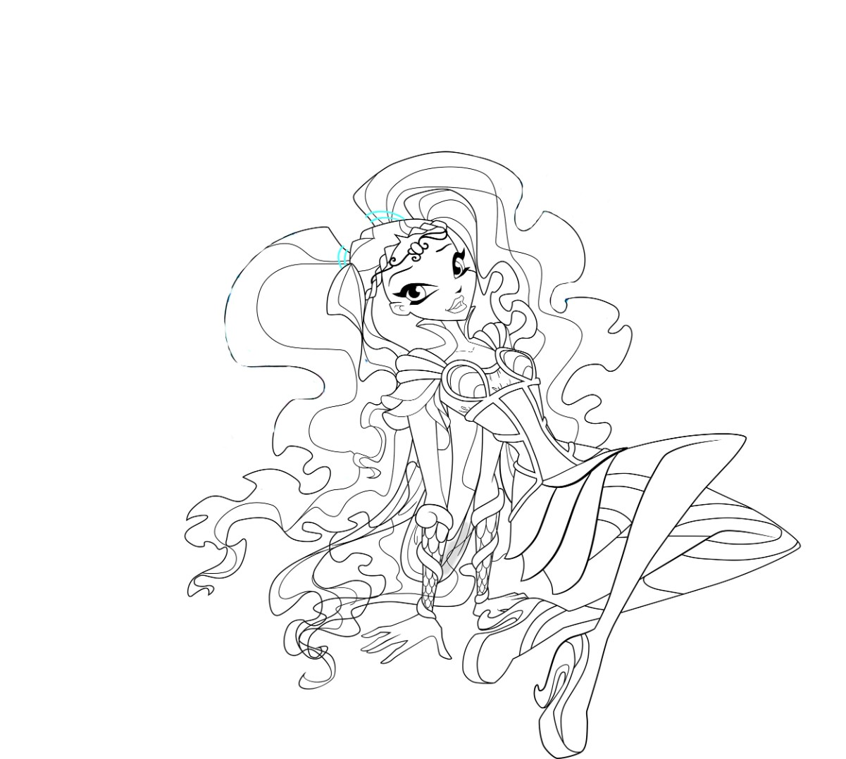 winx club bloomix coloring pages bloom | Winx Club Bloomix coloring pages