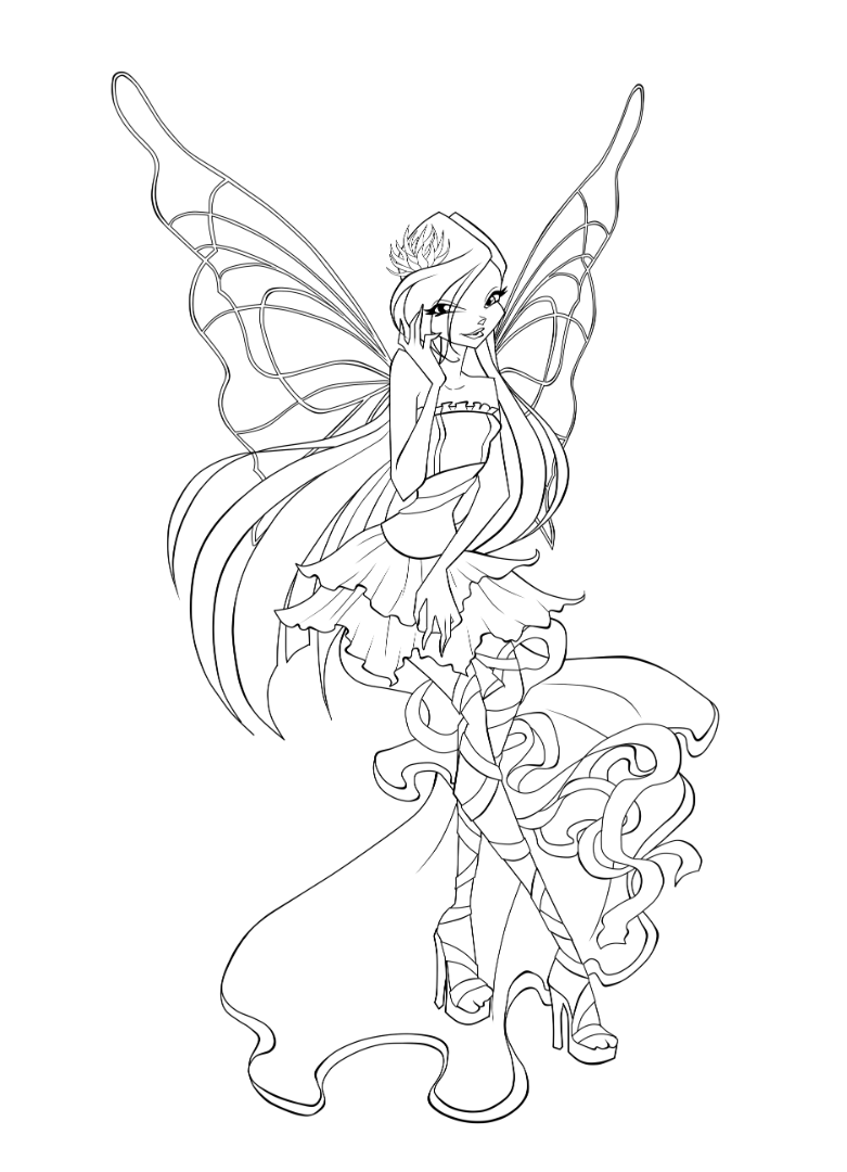 Winx Sirenix Coloring Pages