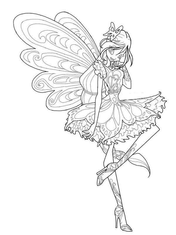 winx club tynix coloring pages - photo#18