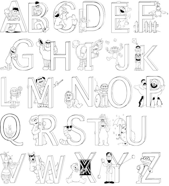 A Z Alphabet Coloring Pages